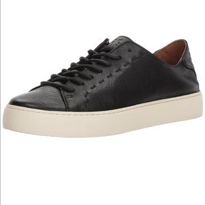Anthropologie Shoes - NEW! FRYE Lena Low Lace Black Leather Sneaker 8.5